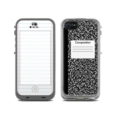 LifeProof iPhone 5C Fre Case Skin - Composition Notebook