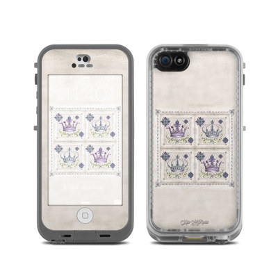 LifeProof iPhone 5C Fre Case Skin - Purple Crown