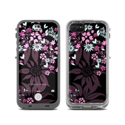 LifeProof iPhone 5C Fre Case Skin - Dark Flowers