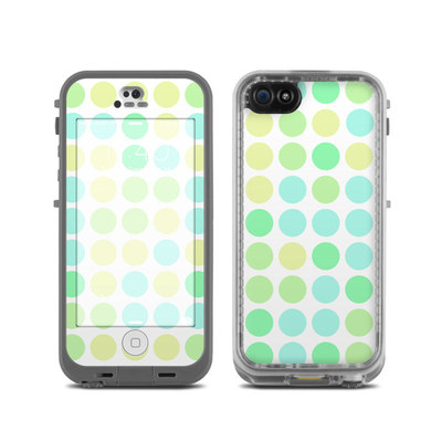 LifeProof iPhone 5C Fre Case Skin - Big Dots Mint