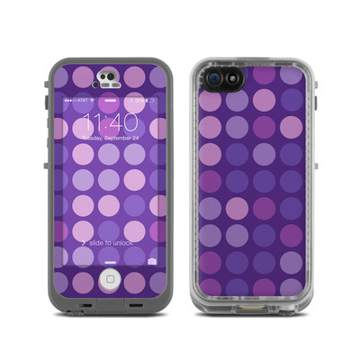 LifeProof iPhone 5C Fre Case Skin - Big Dots Purple