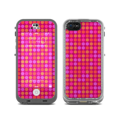 LifeProof iPhone 5C Fre Case Skin - Dots Pink