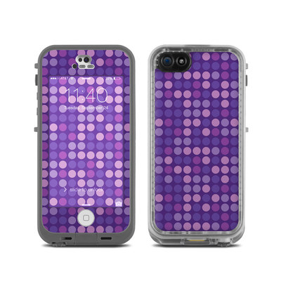 LifeProof iPhone 5C Fre Case Skin - Dots Purple