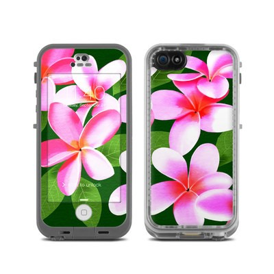 LifeProof iPhone 5C Fre Case Skin - Pink Plumerias