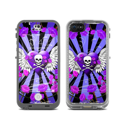 LifeProof iPhone 5C Fre Case Skin - Skull & Roses Purple