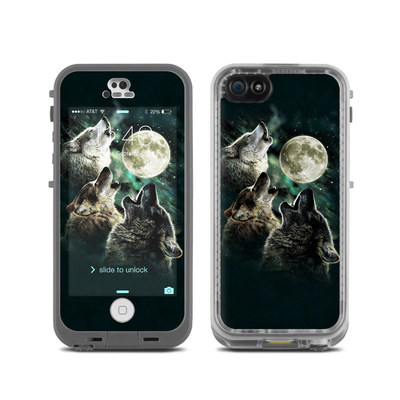 LifeProof iPhone 5C Fre Case Skin - Three Wolf Moon