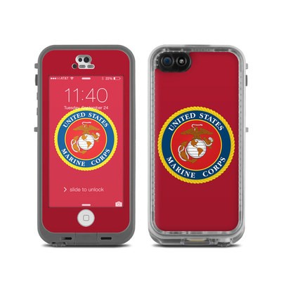 Lifeproof iPhone 5C Fre Case Skin - USMC Red