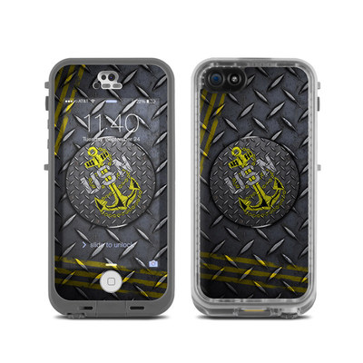 LifeProof iPhone 5C Fre Case Skin - USN Diamond Plate