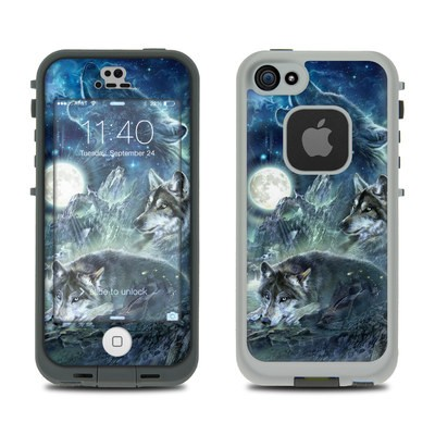 Lifeproof iPhone 5S Fre Case Skin - Bark At The Moon