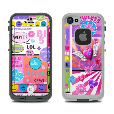 Lifeproof iPhone 5S Fre Case Skin - BFF Girl Talk