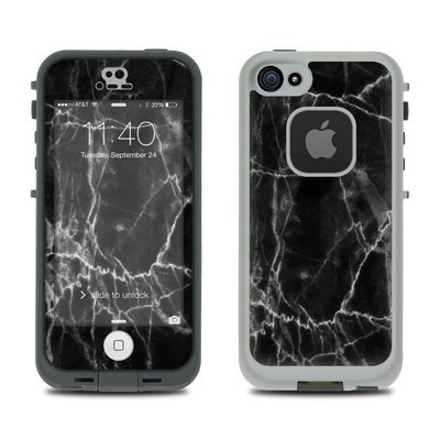 Lifeproof iPhone 5S Fre Case Skin - Black Marble
