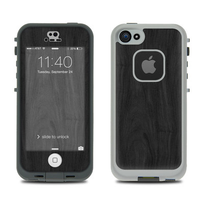 LifeProof iPhone 5S Fre Case Skin - Black Woodgrain