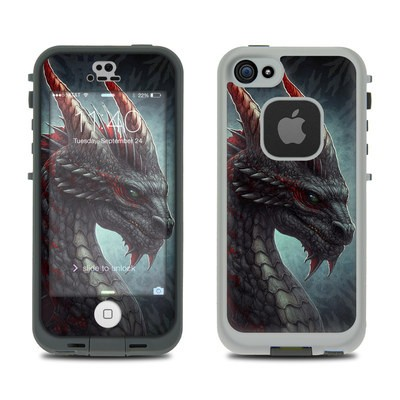 LifeProof iPhone 5S Fre Case Skin - Black Dragon