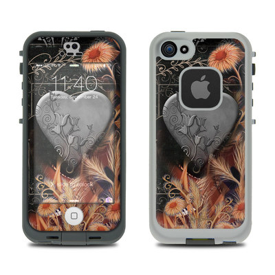 LifeProof iPhone 5S Fre Case Skin - Black Lace Flower