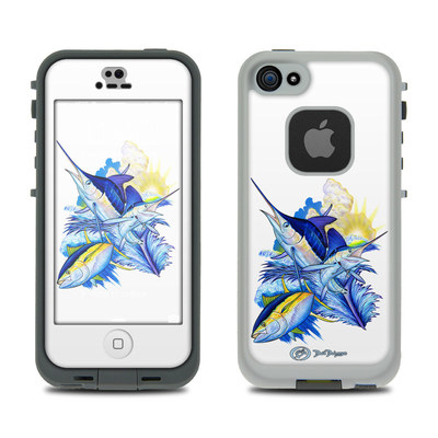 LifeProof iPhone 5S Fre Case Skin - Blue White and Yellow
