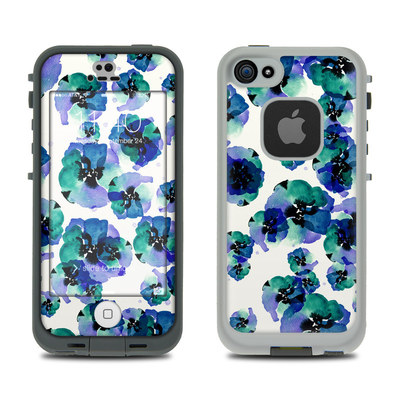 LifeProof iPhone 5S Fre Case Skin - Blue Eye Flowers
