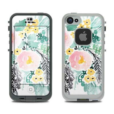 Lifeproof iPhone 5S Fre Case Skin - Blushed Flowers