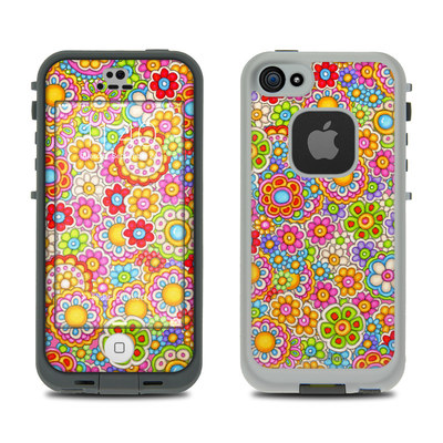 LifeProof iPhone 5S Fre Case Skin - Bright Ditzy