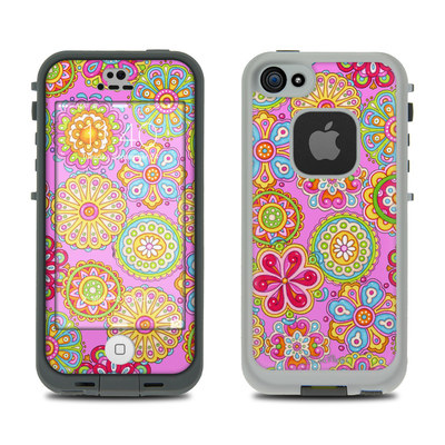 LifeProof iPhone 5S Fre Case Skin - Bright Flowers