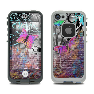 LifeProof iPhone 5S Fre Case Skin - Butterfly Wall