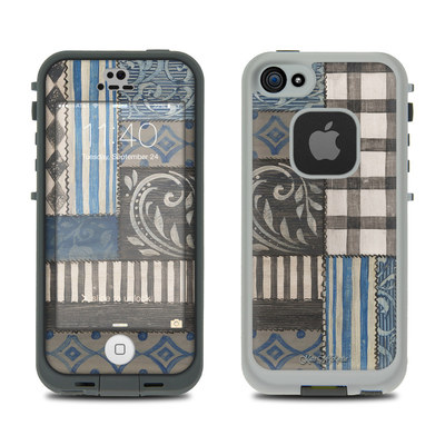 LifeProof iPhone 5S Fre Case Skin - Country Chic Blue