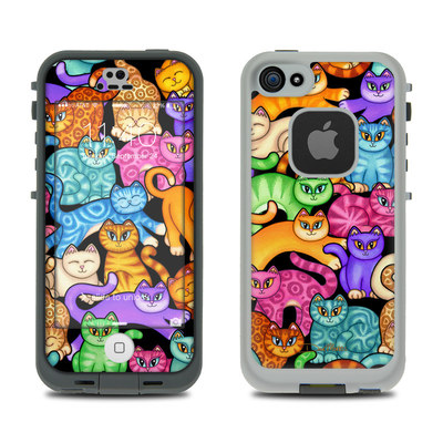 LifeProof iPhone 5S Fre Case Skin - Colorful Kittens
