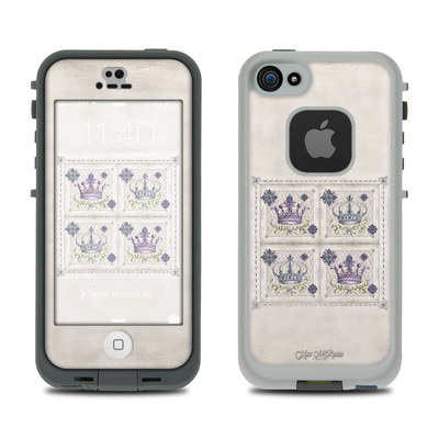 LifeProof iPhone 5S Fre Case Skin - Purple Crown