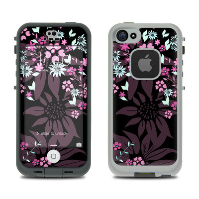 LifeProof iPhone 5S Fre Case Skin - Dark Flowers