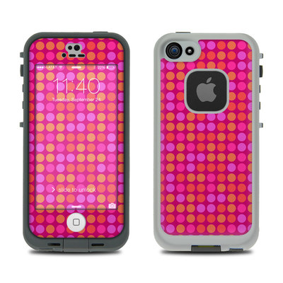 LifeProof iPhone 5S Fre Case Skin - Dots Pink