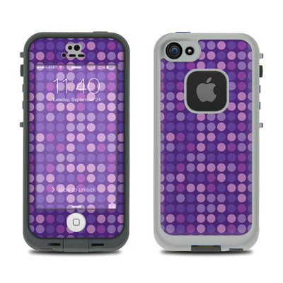 LifeProof iPhone 5S Fre Case Skin - Dots Purple