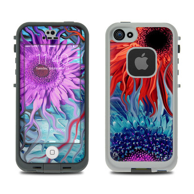 LifeProof iPhone 5S Fre Case Skin - Deep Water Daisy Dance