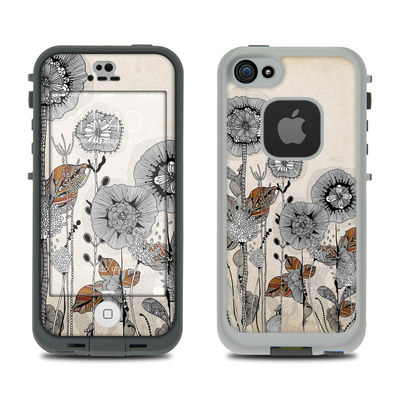 LifeProof iPhone 5S Fre Case Skin - Four Flowers