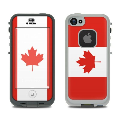 Lifeproof iPhone 5S Fre Case Skin - Canadian Flag