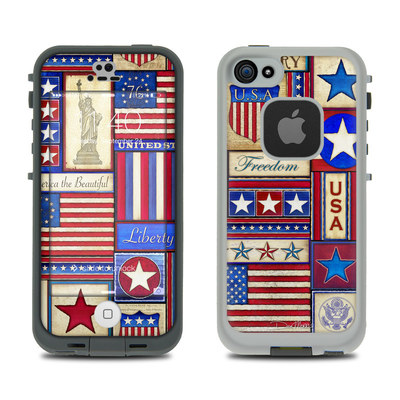 LifeProof iPhone 5S Fre Case Skin - Flag Patchwork