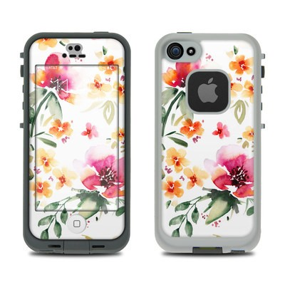 Lifeproof iPhone 5S Fre Case Skin - Fresh Flowers