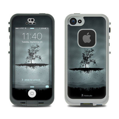 LifeProof iPhone 5S Fre Case Skin - Flying Tree Black