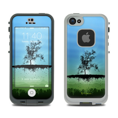 LifeProof iPhone 5S Fre Case Skin - Flying Tree Blue