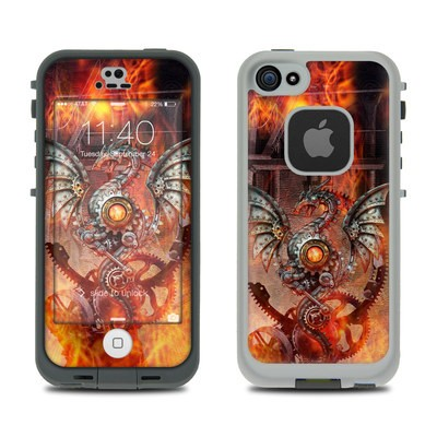 Lifeproof iPhone 5S Fre Case Skin - Furnace Dragon