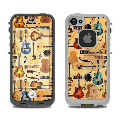 LifeProof iPhone 5S Fre Case Skin - Guitar Collage