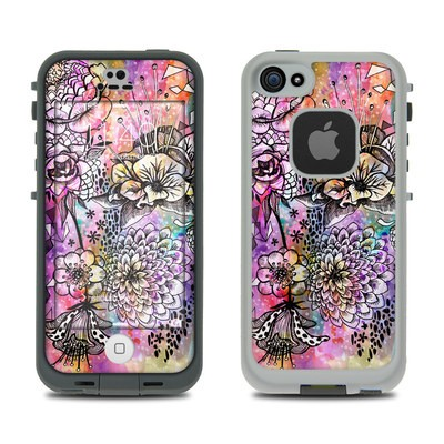 Lifeproof iPhone 5S Fre Case Skin - Hot House Flowers