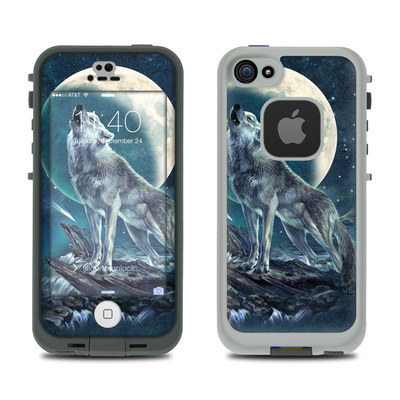 LifeProof iPhone 5S Fre Case Skin - Howling Moon Soloist