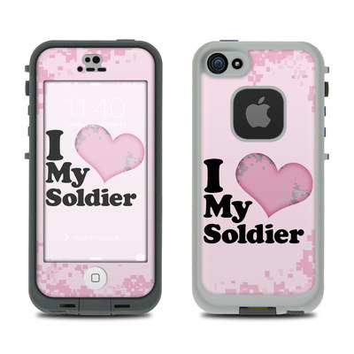 LifeProof iPhone 5S Fre Case Skin - I Love My Soldier