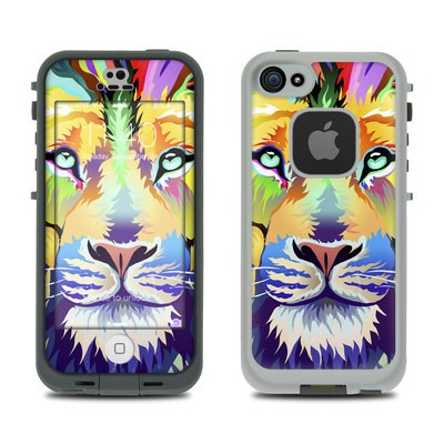 Lifeproof iPhone 5S Fre Case Skin - King of Technicolor