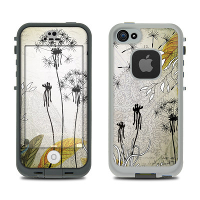 LifeProof iPhone 5S Fre Case Skin - Little Dandelion