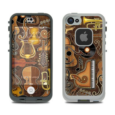 Lifeproof iPhone 5S Fre Case Skin - Music Elements