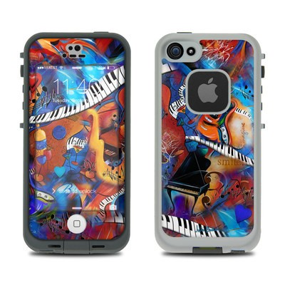 LifeProof iPhone 5S Fre Case Skin - Music Madness