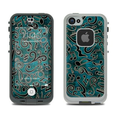 LifeProof iPhone 5S Fre Case Skin - Music Notes