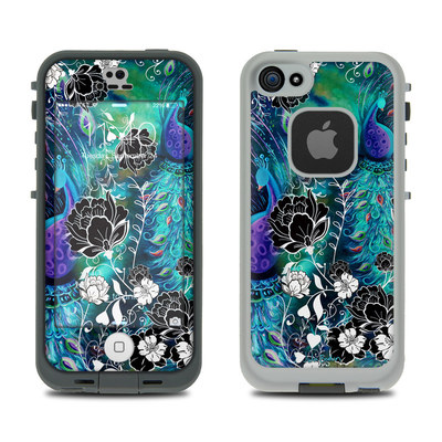 LifeProof iPhone 5S Fre Case Skin - Peacock Garden