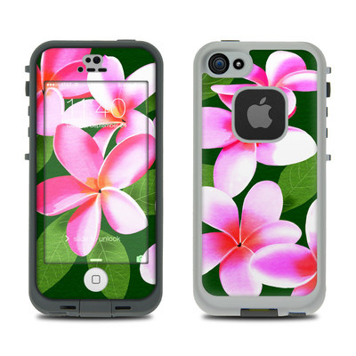 LifeProof iPhone 5S Fre Case Skin - Pink Plumerias