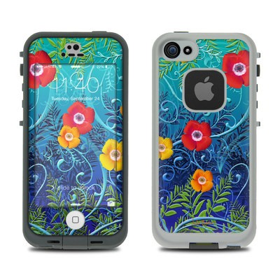 Lifeproof iPhone 5S Fre Case Skin - Poppies